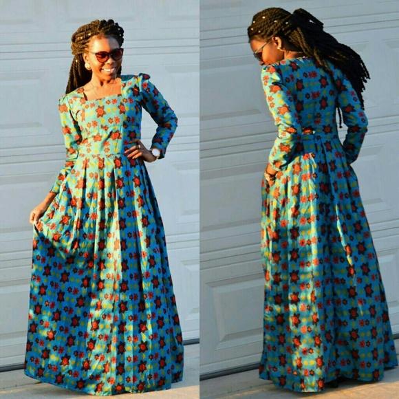 Long African Print Dresses